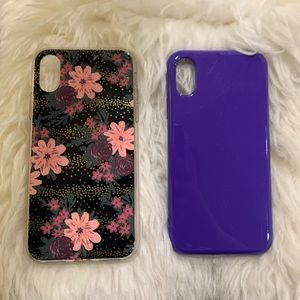 Bundle of Two iPhone XS Phone Cases